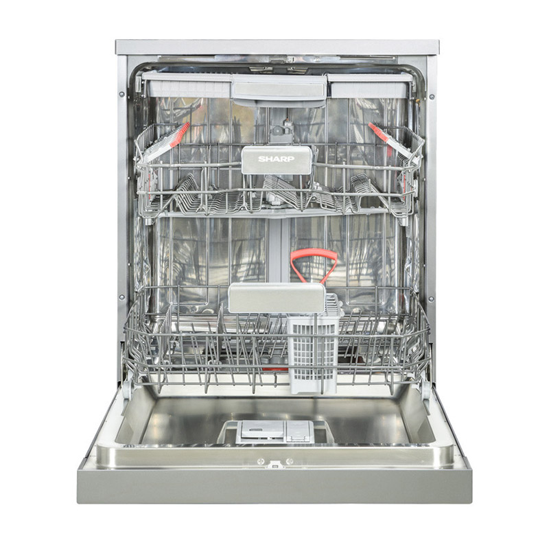 SHARP Dishwasher For 15 Person 60 cm In Silver Color With Digit Display and 8 Programs QW-V815-SS2