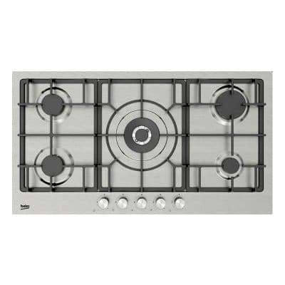 BEKO Built-In Gas Hob 5 Gas Burners, 90cm, Stainless - HIMW95226SXEL