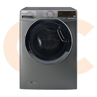 HOOVER Washing Machine Fully Automatic 13.5 Kg, 8 Kg Dryer In Silver Color-WDWOT4358AHFREGY