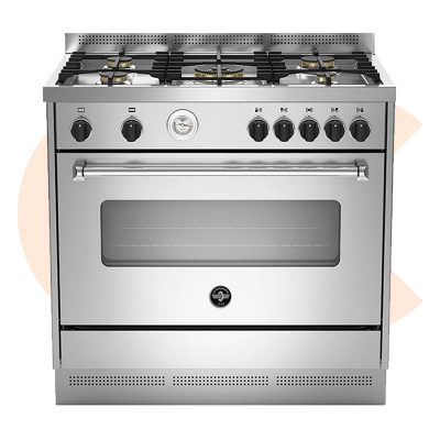 LA GERMANIA Freestanding Cooker 90 x 60 cm 5 Gas Burners In Stainless Steel Color - AMS95C81AX/2
