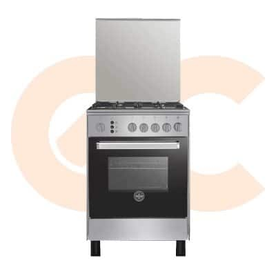 LA GERMANIA Freestanding Cooker 60 x 60 cm 4 Gas Burners In Stainless x Black Color-6C40GRB1X4AWW