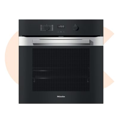 Miele Built-In Electric Oven PureLine Pyrolytic Soft Open Black Stainless Steel 60 cmفرن ميلا 60سم ستانلس اسود H2850B